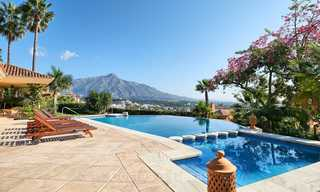 Magnificent rustic-style luxury villa with breath-taking sea and mountain views - Golf Valley, Nueva Andalucia, Marbella 7237