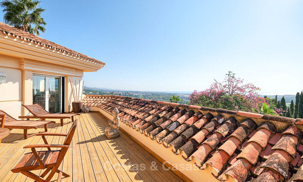 Magnificent rustic-style luxury villa with breath-taking sea and mountain views - Golf Valley, Nueva Andalucia, Marbella 7276