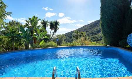 Unique country-house with stunning sea views on a large plot of land for sale, Estepona 7459