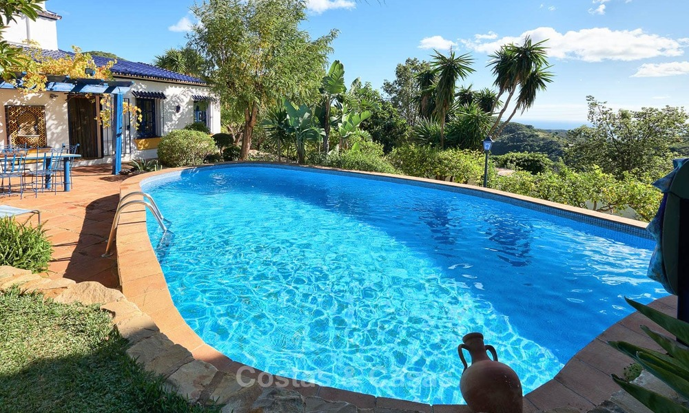 Unique country-house with stunning sea views on a large plot of land for sale, Estepona 7460