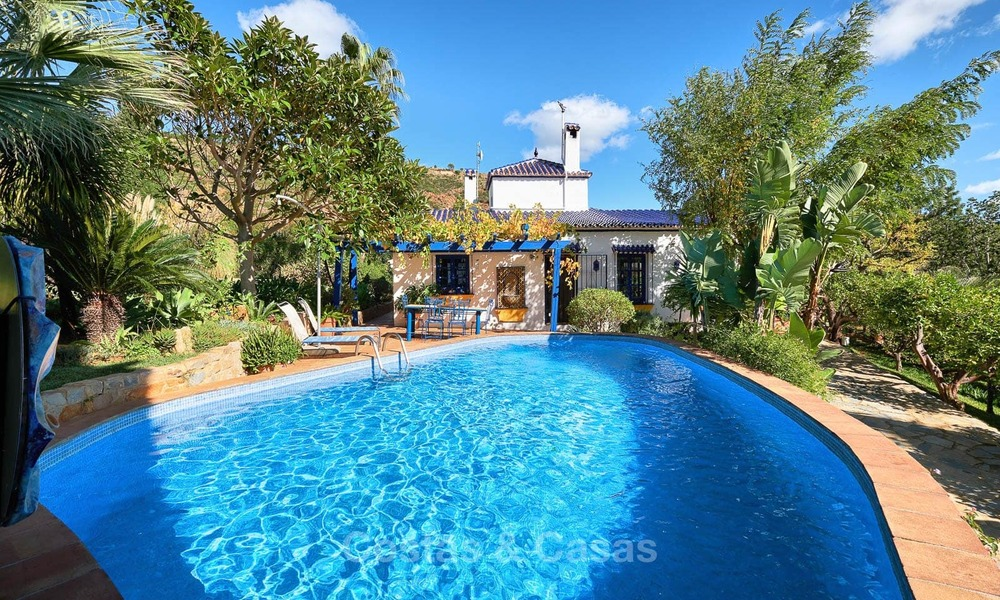 Unique country-house with stunning sea views on a large plot of land for sale, Estepona 7462