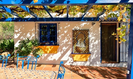Unique country-house with stunning sea views on a large plot of land for sale, Estepona 7463