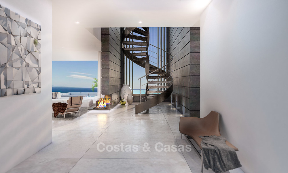 Eye catching new-built modern luxury villa with panoramic sea views for sale, close to beach, Manilva, Costa del Sol 7300