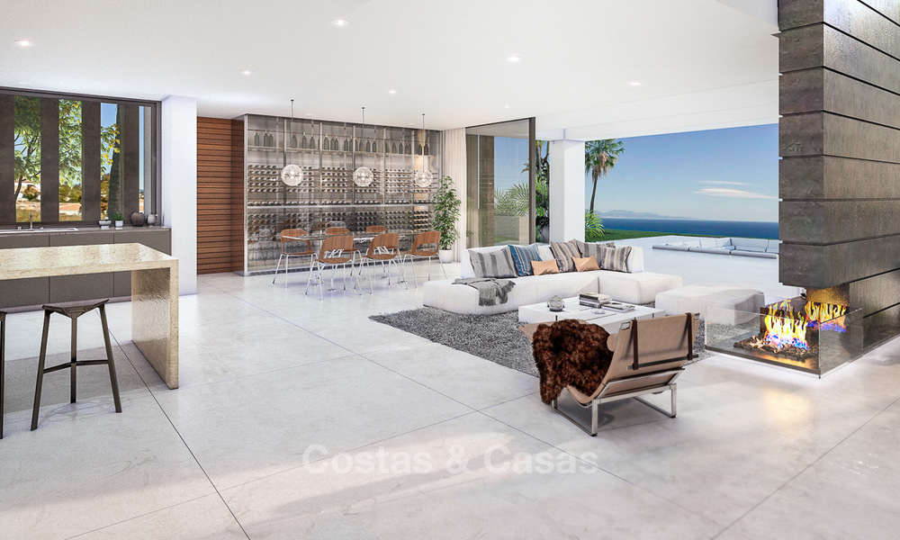 Eye catching new-built modern luxury villa with panoramic sea views for sale, close to beach, Manilva, Costa del Sol 7301