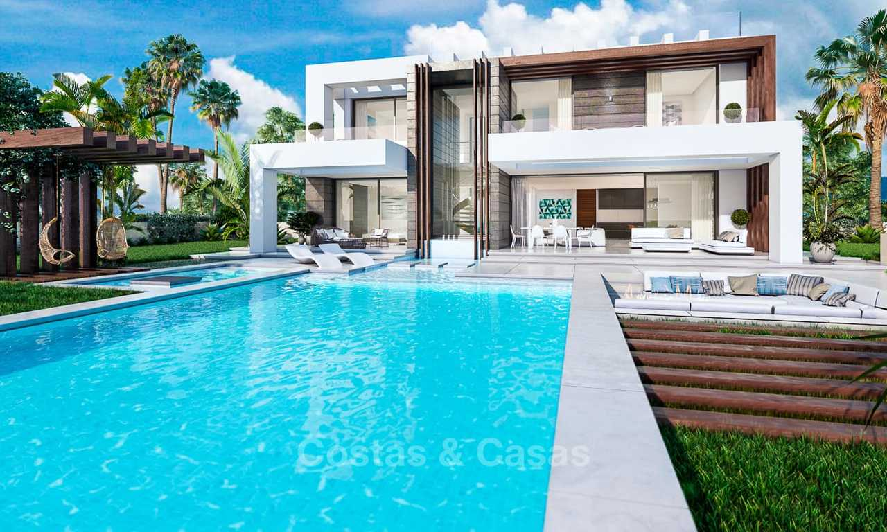 Eye catching new-built modern luxury villa with panoramic sea views for sale, close to beach, Manilva, Costa del Sol 7302