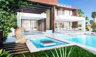 Eye catching new-built modern luxury villa with panoramic sea views for sale, close to beach, Manilva, Costa del Sol 7305