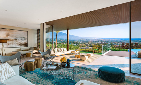 Eco-friendly luxury villas with breath taking sea and valley views for sale - Benahavis, Marbella 7489