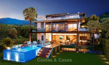 Eco-friendly luxury villas with breath taking sea and valley views for sale - Benahavis, Marbella 7491