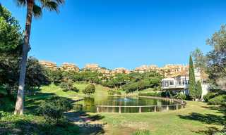 Spacious ground floor luxury apartment with sea views for sale in Elviria, Marbella East 7521