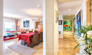 Spacious ground floor luxury apartment with sea views for sale in Elviria, Marbella East 7528
