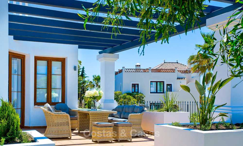 Elegant new turnkey villas with sea views for sale, front line golf, New Golden Mile, Marbella - Estepona 7572