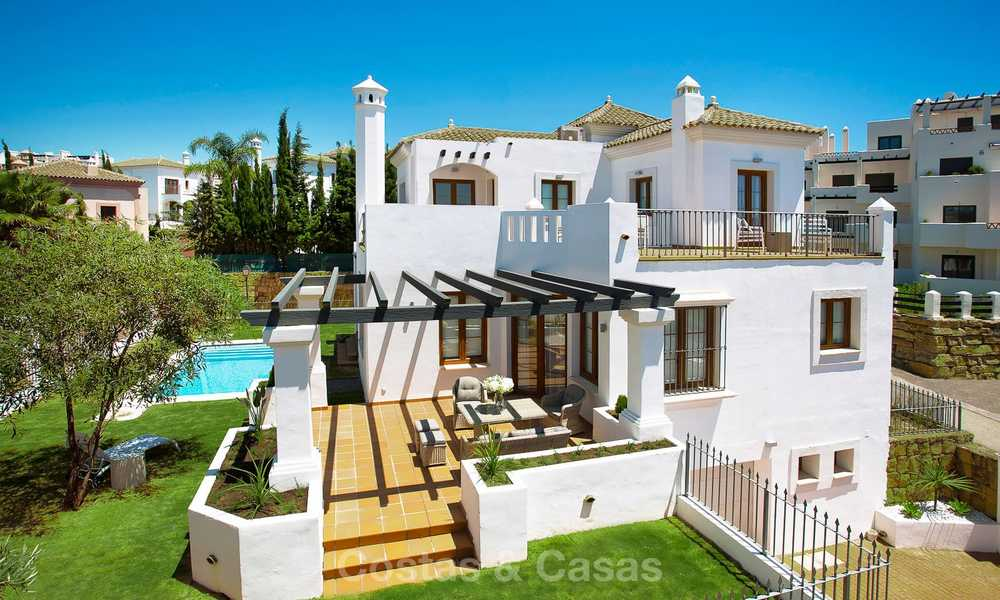 Elegant new turnkey villas with sea views for sale, front line golf, New Golden Mile, Marbella - Estepona 7574