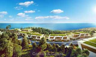 Stunning new contemporary-style townhouses with sea views for sale, in a prestigious resort - Mijas Costa, Costa del Sol 7615