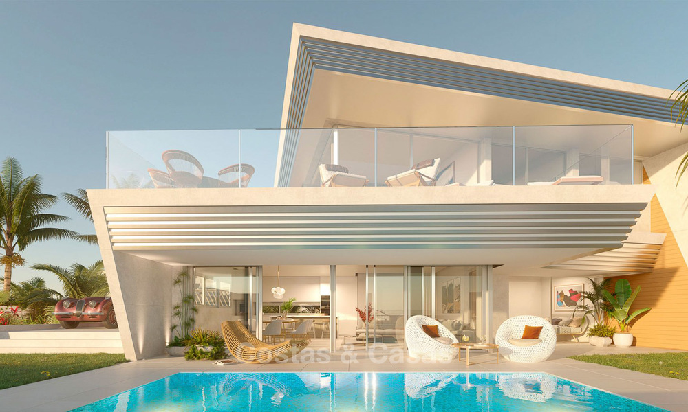 Stunning new contemporary-style townhouses with sea views for sale, in a prestigious resort - Mijas Costa, Costa del Sol 7622