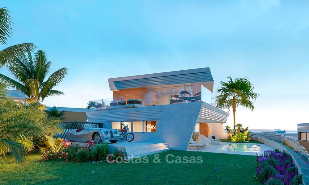 Stunning new contemporary-style townhouses with sea views for sale, in a prestigious resort - Mijas Costa, Costa del Sol 7623