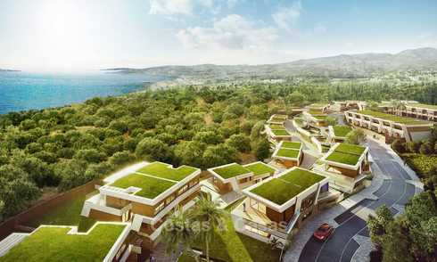 Stunning new contemporary-style townhouses with sea views for sale, in a prestigious resort - Mijas Costa, Costa del Sol 7625