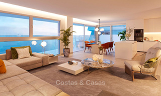Stunning new contemporary-style townhouses with sea views for sale, in a prestigious resort - Mijas Costa, Costa del Sol 7628