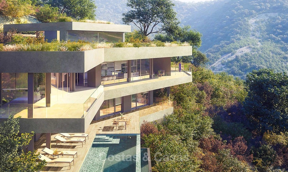 Stunning new-built contemporary villa with breath-taking sea and valley views for sale, Benahavis, Marbella 7642