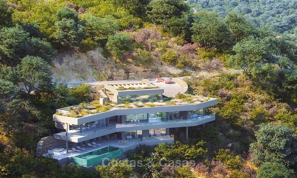 Stunning new-built contemporary villa with breath-taking sea and valley views for sale, Benahavis, Marbella 7643