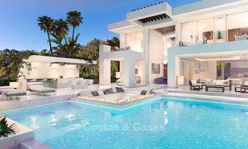 Eye catching new contemporary luxury villa for sale in Nueva Andalucia´s golf valley, Marbella 7664
