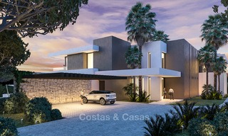 New contemporary luxury villas with sea views for sale, in an exclusive urbanisation - Benahavis, Marbella 7739