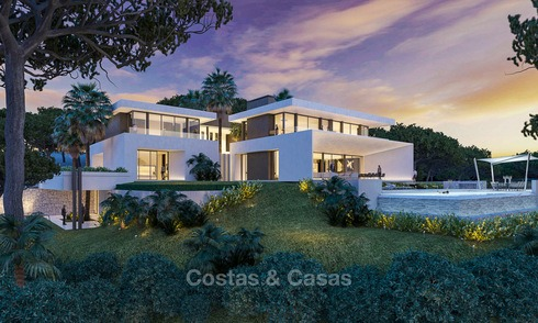 New contemporary luxury villas with sea views for sale, in an exclusive urbanisation - Benahavis, Marbella 7740