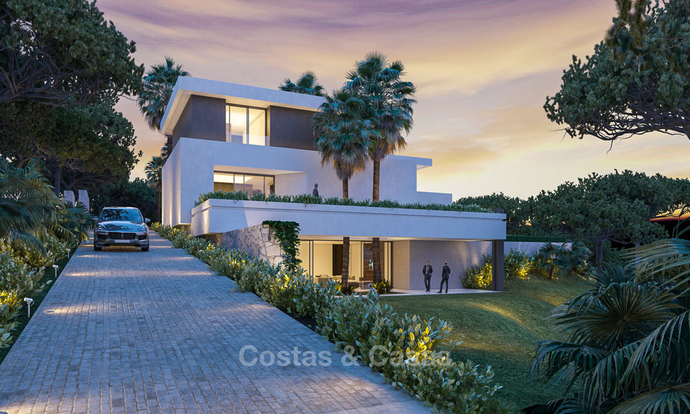 New contemporary luxury villas with sea views for sale, in an exclusive urbanisation - Benahavis, Marbella 7741