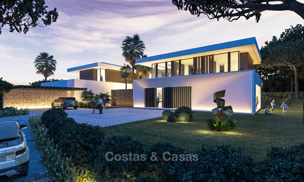 New contemporary luxury villas with sea views for sale, in an exclusive urbanisation - Benahavis, Marbella 7742