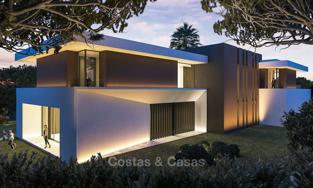 New contemporary luxury villas with sea views for sale, in an exclusive urbanisation - Benahavis, Marbella 7743