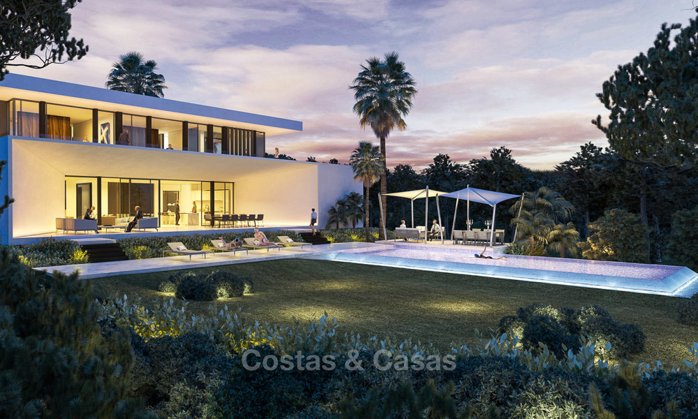 New contemporary luxury villas with sea views for sale, in an exclusive urbanisation - Benahavis, Marbella 7744