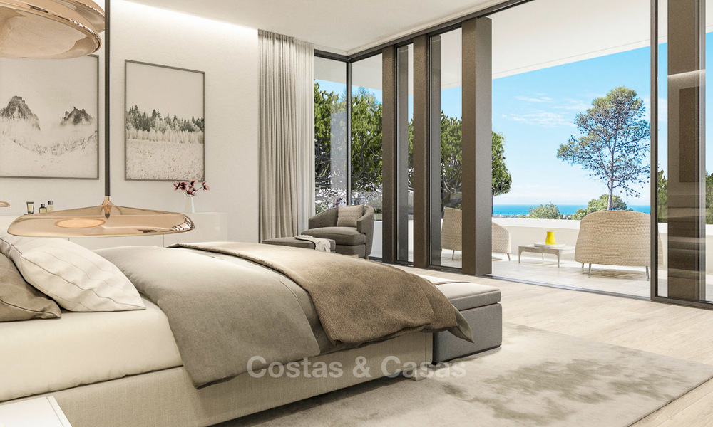 New contemporary luxury villas with sea views for sale, in an exclusive urbanisation - Benahavis, Marbella 7747