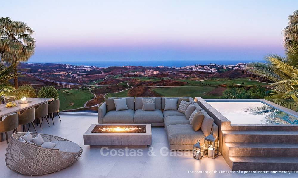 New modern frontline golf apartments with sea views for sale in a luxury resort - Mijas, Costa del Sol 7784