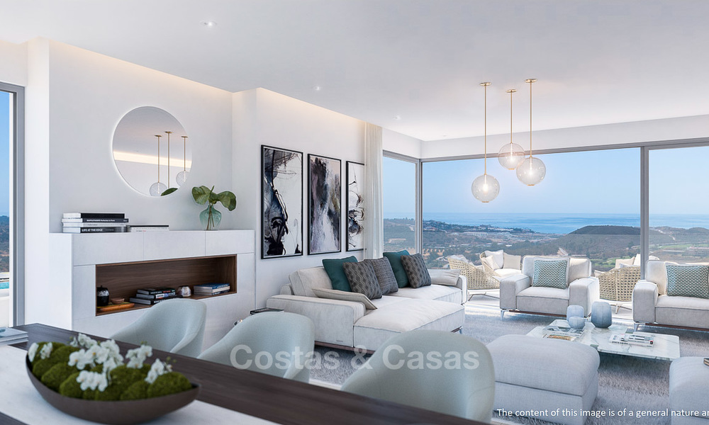 New modern frontline golf apartments with sea views for sale in a luxury resort - Mijas, Costa del Sol 7785