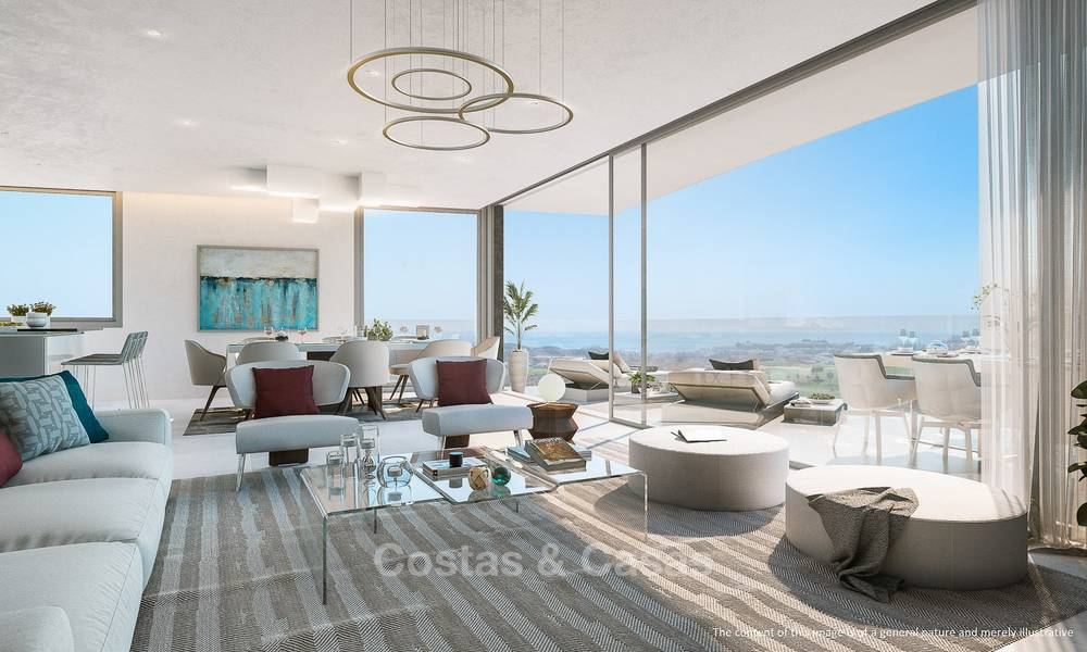 New modern frontline golf apartments with sea views for sale in a luxury resort - Mijas, Costa del Sol 7787