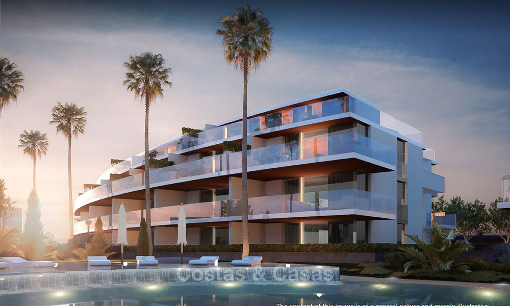 New modern frontline golf apartments with sea views for sale in a luxury resort - Mijas, Costa del Sol 7789