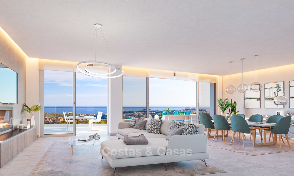 New modern frontline golf apartments with sea views for sale in a luxury resort - Mijas, Costa del Sol 8956