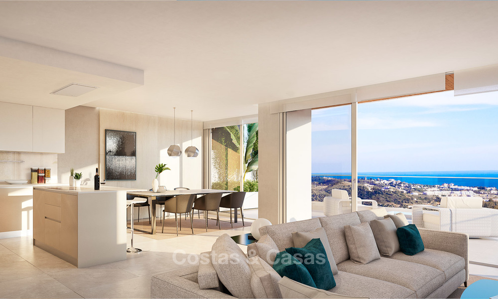 New modern frontline golf apartments with sea views for sale in a luxury resort - Mijas, Costa del Sol 8959