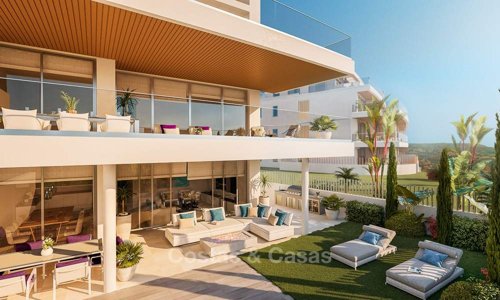 New modern frontline golf apartments with sea views for sale in a luxury resort - Mijas, Costa del Sol 8969