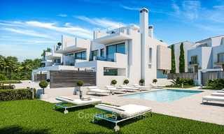 Attractive contemporary townhouses in a new boutique development for sale, beachside Estepona, Costa del Sol 7790