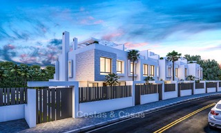 Attractive contemporary townhouses in a new boutique development for sale, beachside Estepona, Costa del Sol 7792