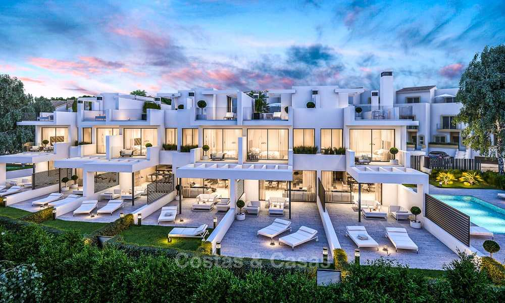 Attractive contemporary townhouses in a new boutique development for sale, beachside Estepona, Costa del Sol 7793