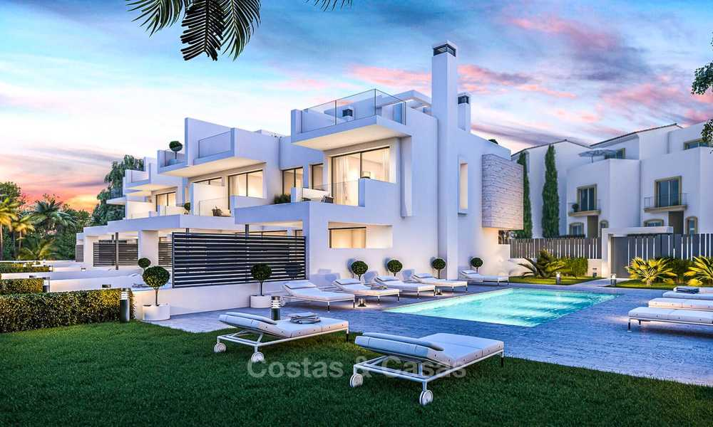 Attractive contemporary townhouses in a new boutique development for sale, beachside Estepona, Costa del Sol 7794