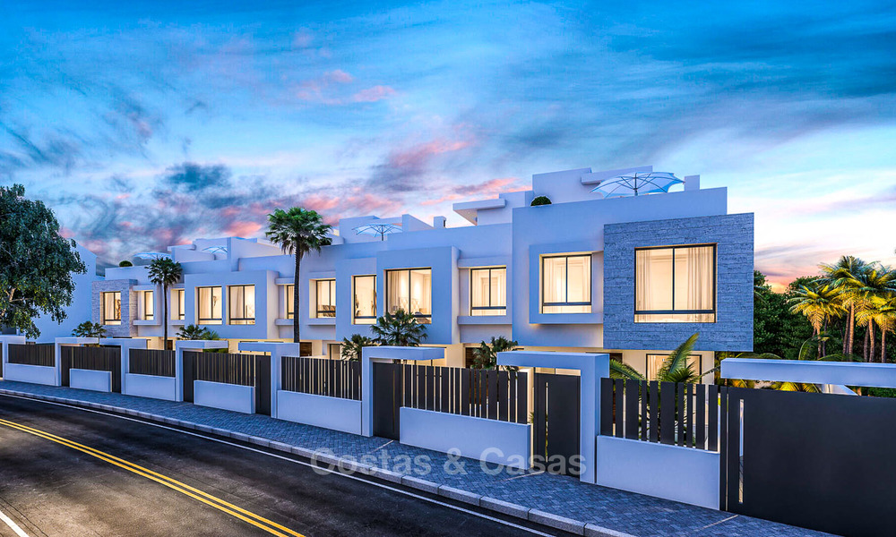Attractive contemporary townhouses in a new boutique development for sale, beachside Estepona, Costa del Sol 7795