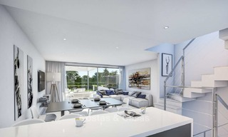 Attractive contemporary townhouses in a new boutique development for sale, beachside Estepona, Costa del Sol 7797