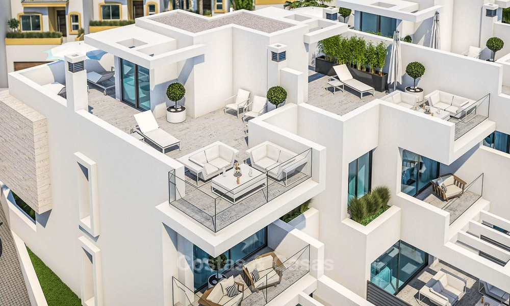 Attractive contemporary townhouses in a new boutique development for sale, beachside Estepona, Costa del Sol 7799
