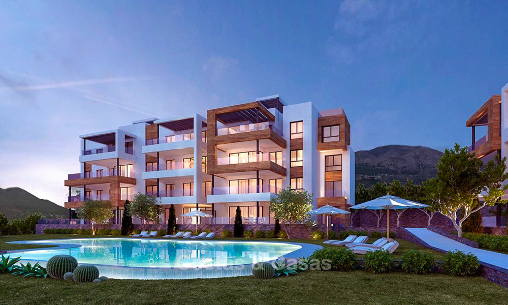 New avant-gardist apartments for sale, walking distance from the beach and amenities, Fuengirola, Costa del Sol 7823