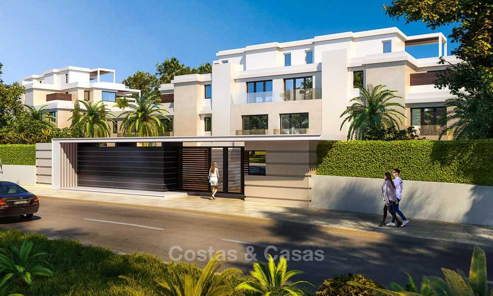 New luxury front line beach villas for sale in an exclusive complex, New Golden Mile, Marbella - Estepona 7902