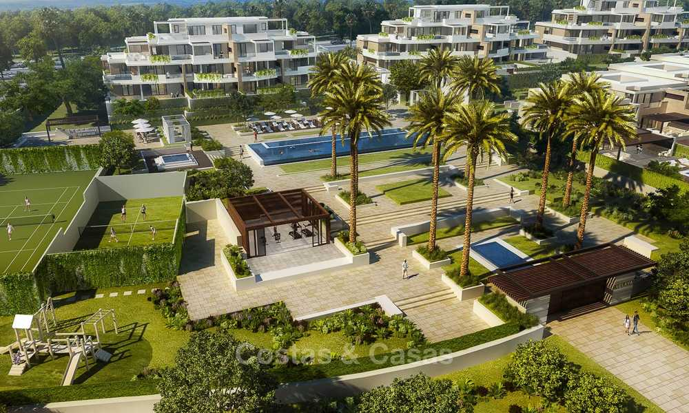 New luxury front line beach villas for sale in an exclusive complex, New Golden Mile, Marbella - Estepona 7903