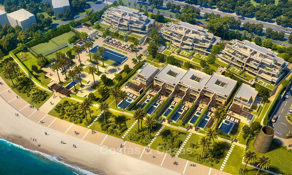 New luxury front line beach villas for sale in an exclusive complex, New Golden Mile, Marbella - Estepona 7904