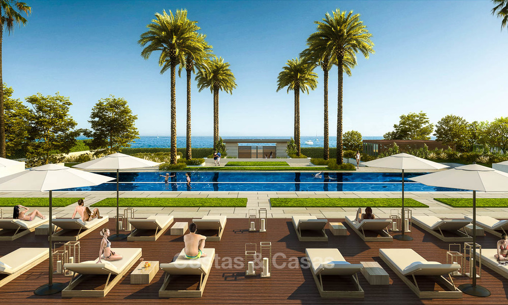 New luxury front line beach villas for sale in an exclusive complex, New Golden Mile, Marbella - Estepona 7905